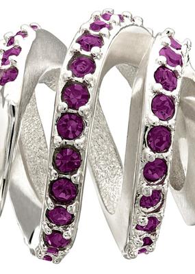 Chamilia Modern Glam - Purple Swarovski - Retired - Tray 6