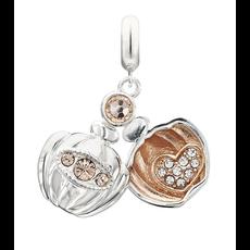 Chamilia Chamilia Sterling Silver - Love Potion Locket - Light Peach Swarovski Crystal & Rose Gold Plating - Tray 2