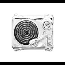 Chamilia Chamilia Sterling SIlver - You Spin Me Record Player - Swarovski Crystal & Black Rhodium Plating - Tray 1