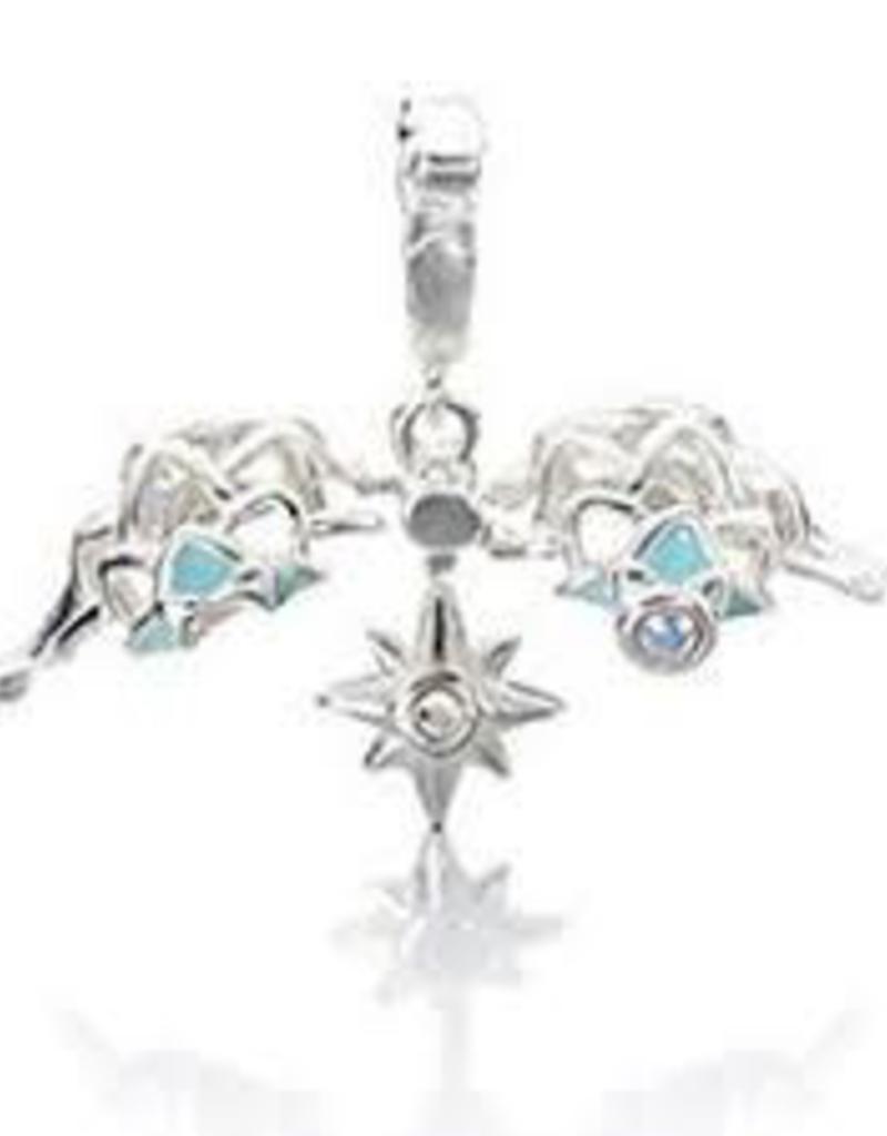 Chamillia Sterling Silver w Stone - North Star Charm - Crystal AB Swarovski - Retired - Tray 5