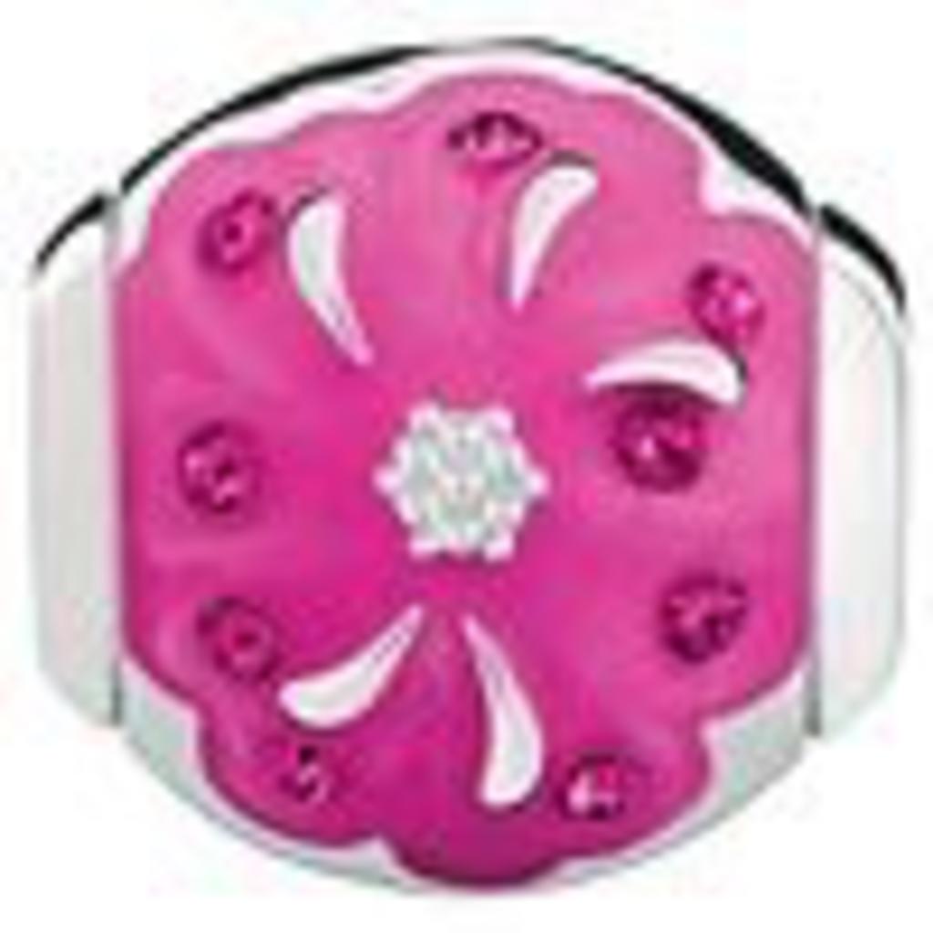Chamilia Chamilia Radiant Blooms-Sister - Fuchsia Swarovski and Pink Enamel - Tray 4