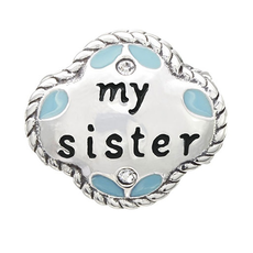 Chamilia My Sister, My Friend - Sterling Silver with Swarovski Crystal and Enamel - Tray 1