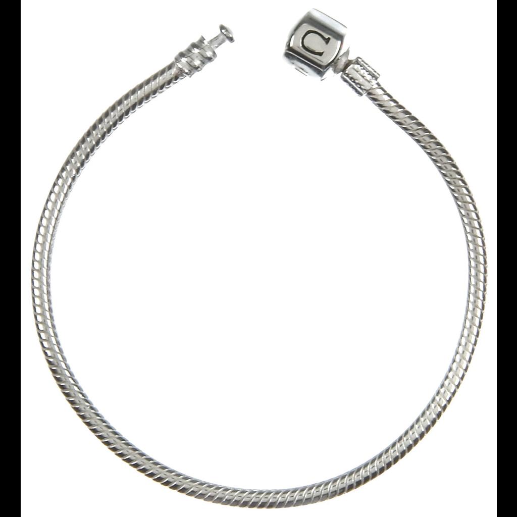 Chamilia Silver Snap Bracelet (22.1 cm/8.7 in)