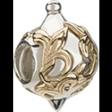 Chamilia Chamilia Silver & 14K Gold - Gold Fleur de Lis Ornament - Retired - Tray 6