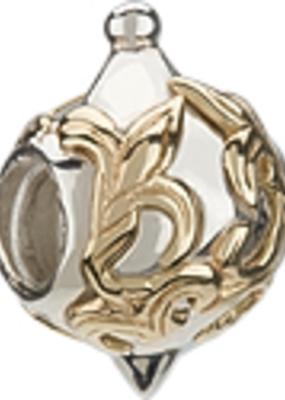 Chamilia Silver & 14K Gold - Gold Fleur de Lis Ornament - Retired - Tray 6