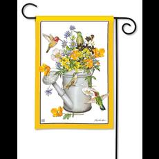 Hummingbird Feast Garden Flag