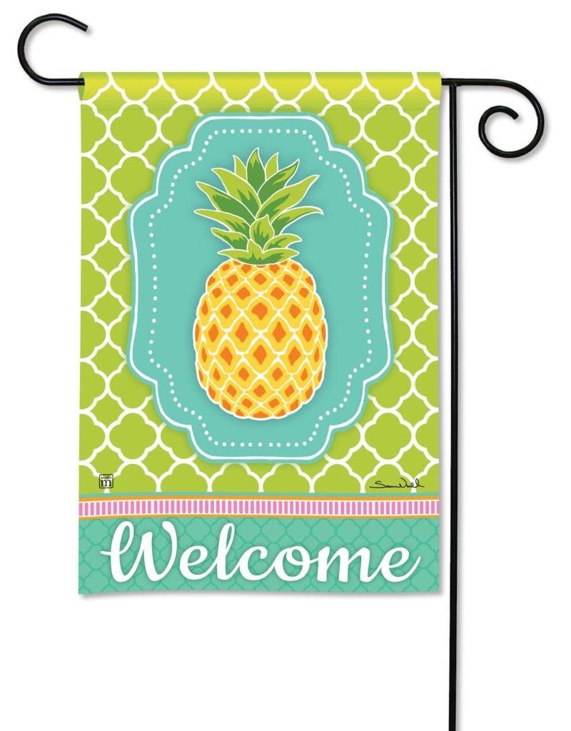 Preppy Pineapple Garden Flag