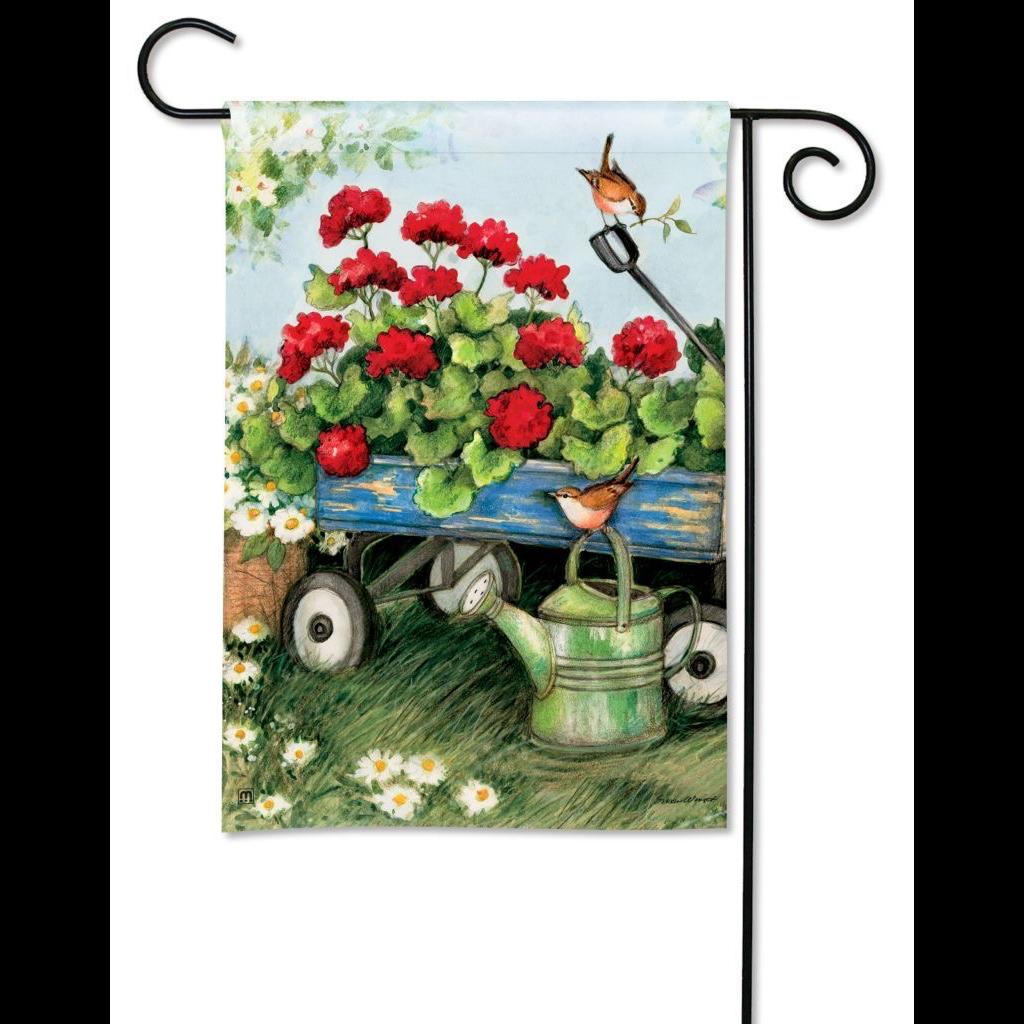 Geraniums by the Dozen Garden Flag