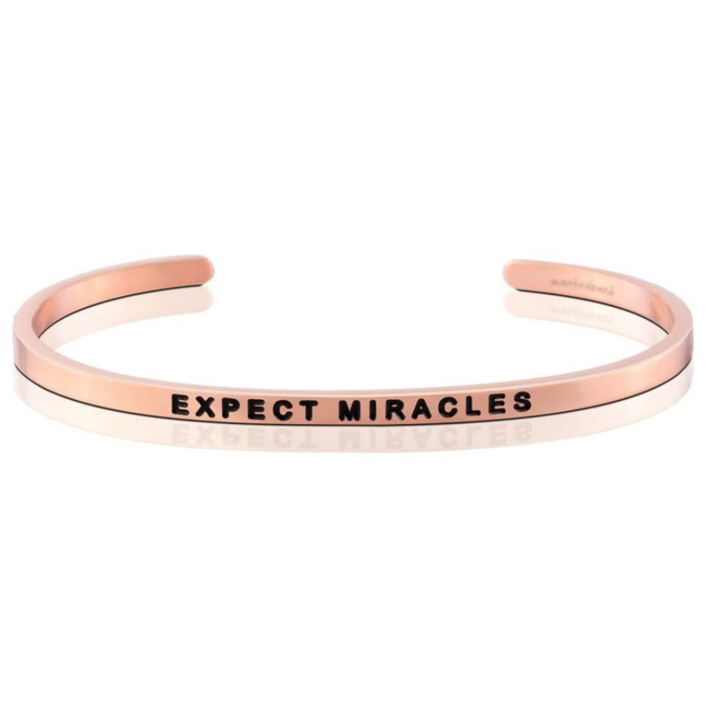 MantraBand - Expect Miracles - Rose Gold