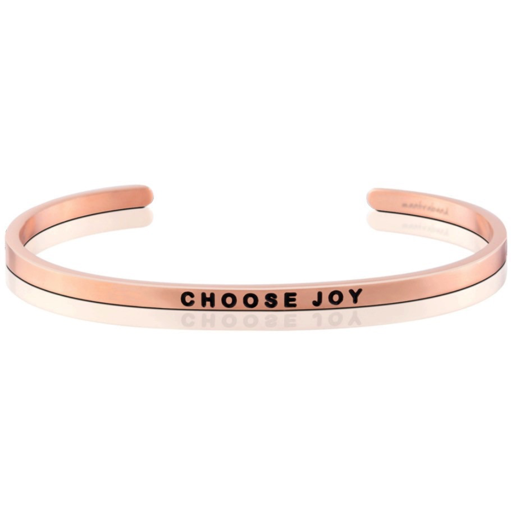 MantraBand - Choose Joy - Rose Gold
