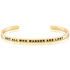 MantraBand - Not All Who Wander Are Lost - Yellow Gold