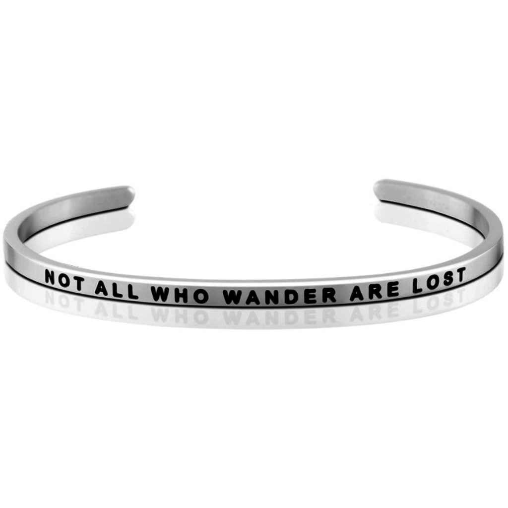 MantraBand - Not All Who Wander Are Lost Silver