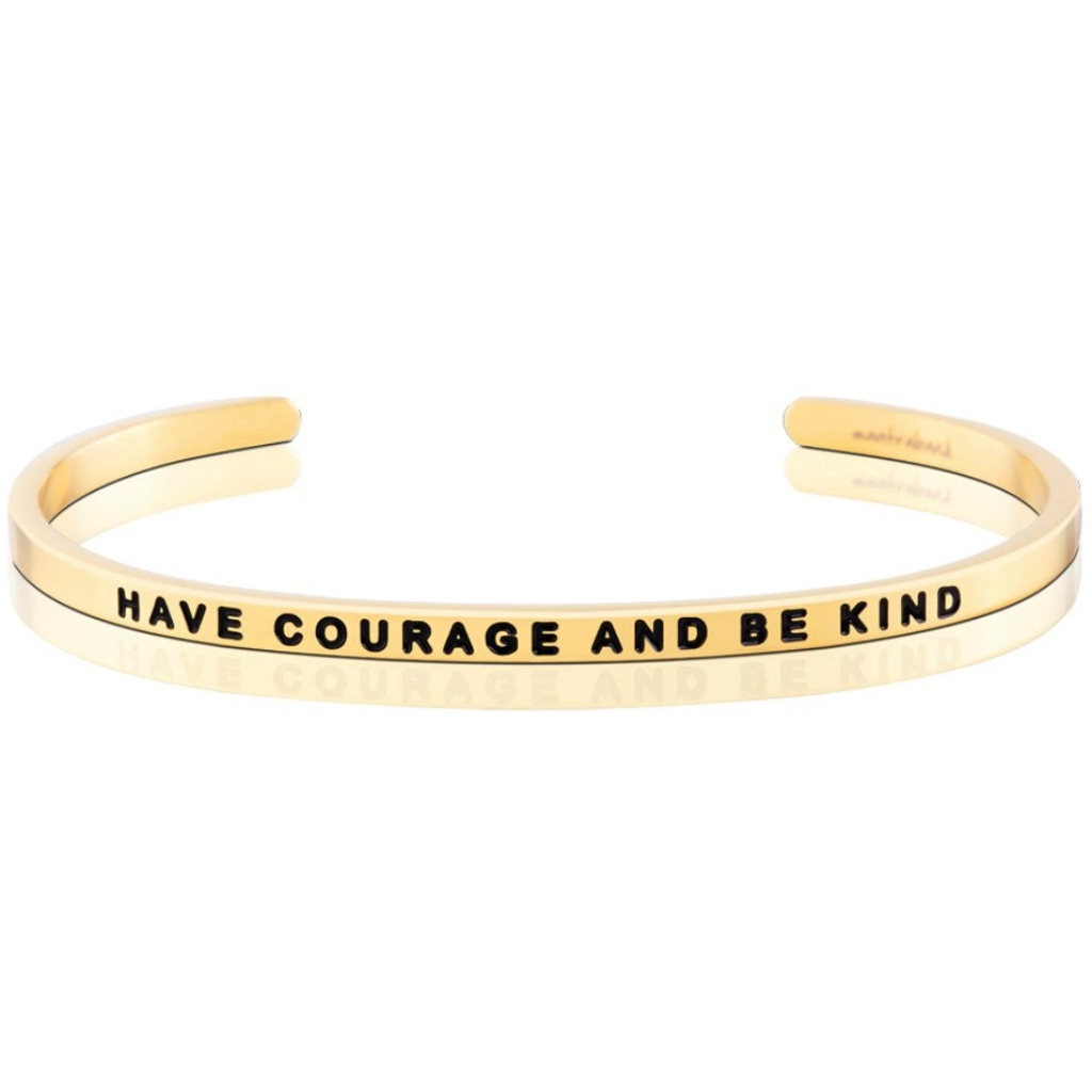 MantraBand - Have Courage and Be Kind - Yellow Gold