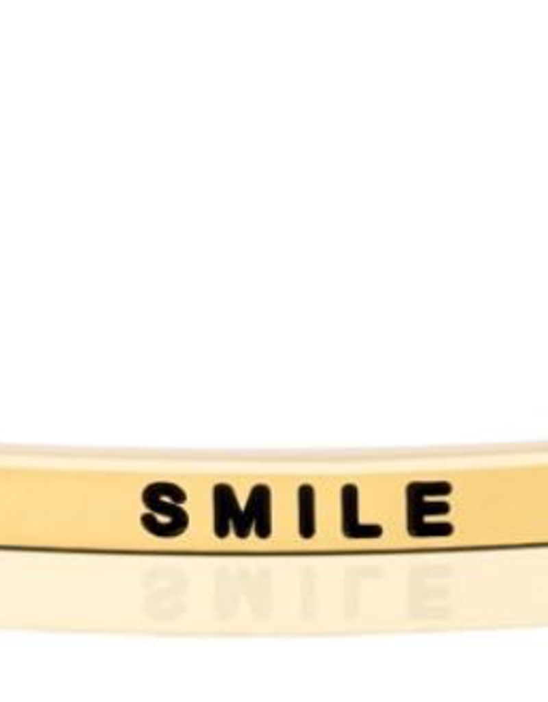 MantraBand - Smile - Yellow Gold