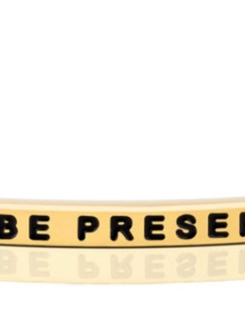 MantraBand - Be Present - Yellow Gold