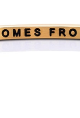 """MantraBand - """"Peace Comes From Within"""" Yellow Gold"""