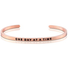 """MantraBand - """"One Day At A Time"""" Rose Gold"""