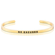 Mantraband - No Excuses - Gold