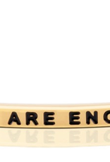 "MantraBand - ""You Are Enough"" Yellow Gold"