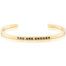 """MantraBand - """"You Are Enough"""" Yellow Gold"""