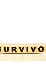 "MantraBand - ""Survivor"" Yellow Gold"