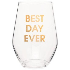 Chez Gagne Best Day Ever Wine Glass