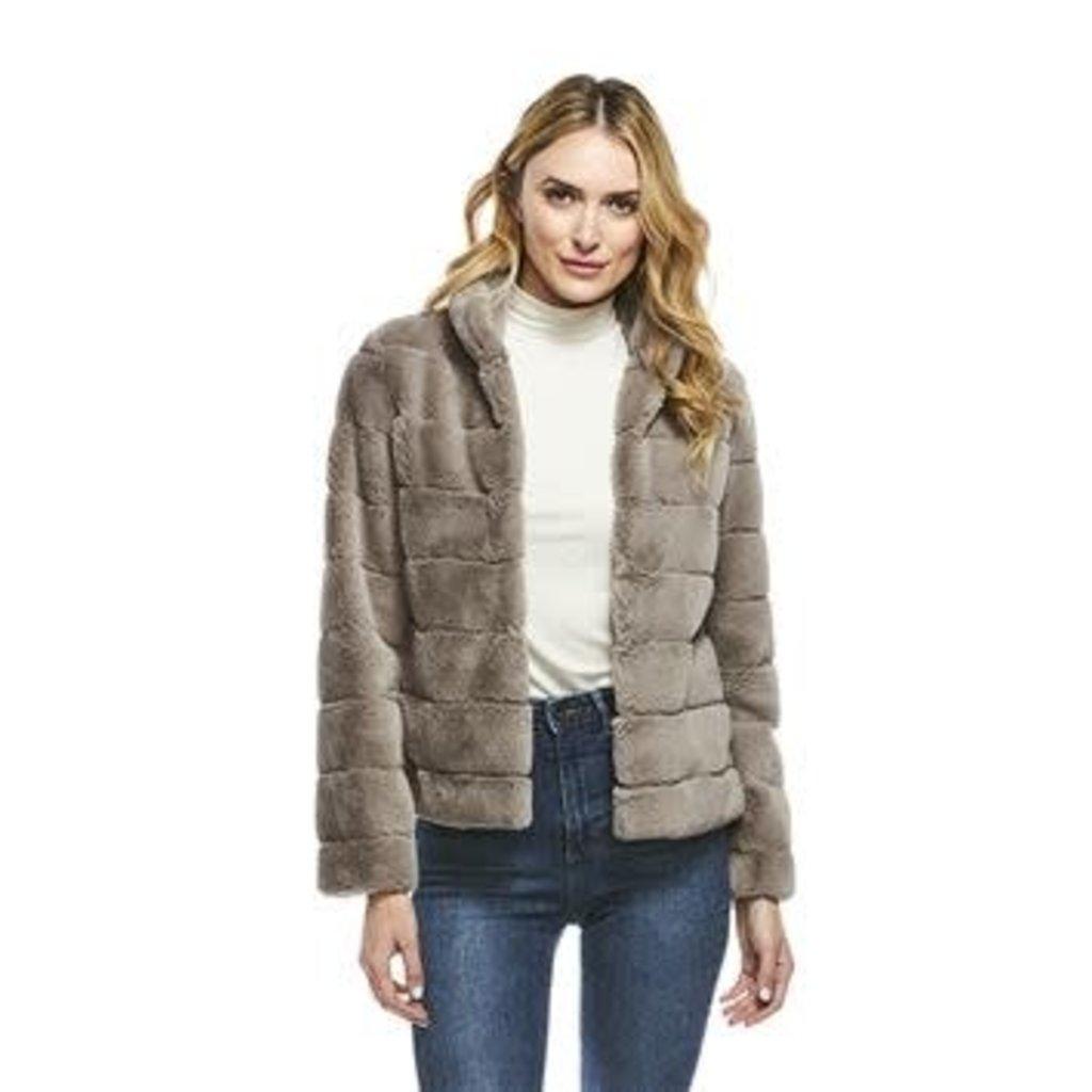 Fabulous Furs Perfect Little Jacket  in Greige Size L