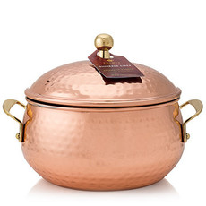 Thymes Simmered Cider 3-wick Poured Candle in Copper Pot