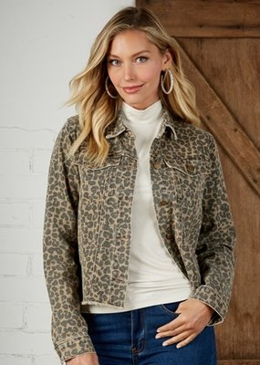 Mud Pie Colton Tan Leopard Jacket Large