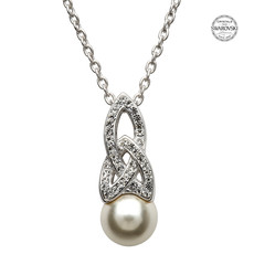 ShanOre ShanOre Celtic Pearl Necklace Adorned by Swarovski Crystals