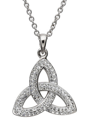 ShanOre ShanOre Trinity Knot Necklace Embellished with Swarovski Crystals