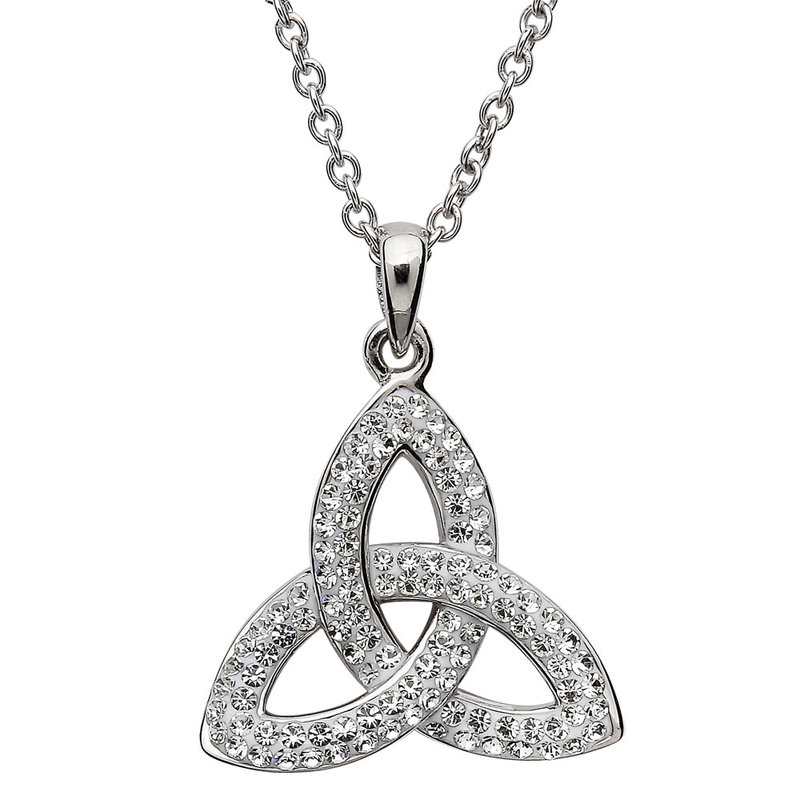 ShanOre Trinity Knot Necklace Embellished with Swarovski Crystals