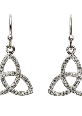 ShanOre ShanOre Trinity Knot Earring Embellished with Swarovski Crystals