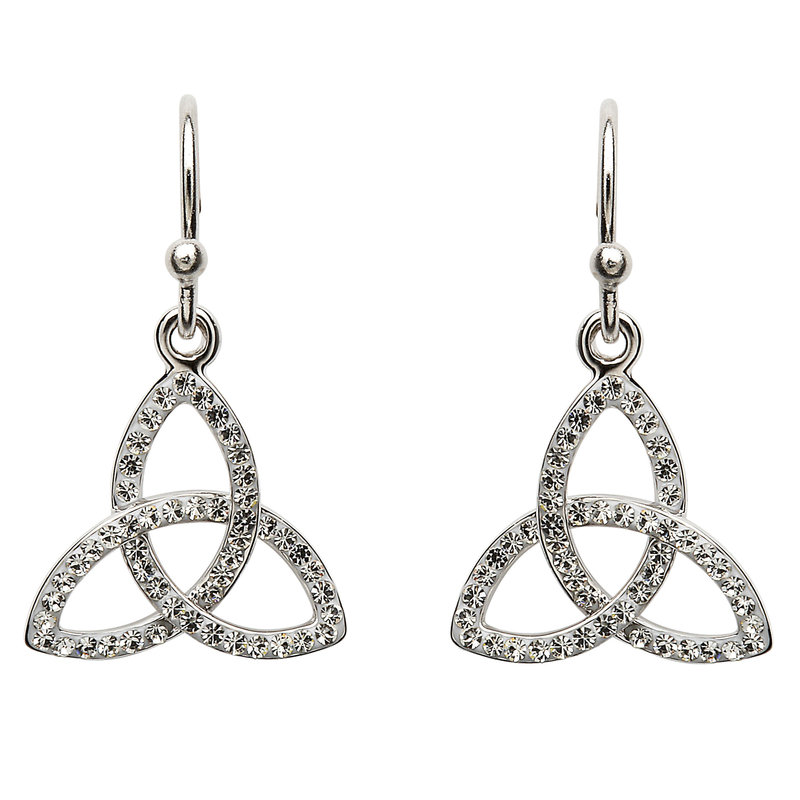 ShanOre Trinity Earrings Adorned With Swarovski Crystals