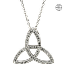 ShanOre ShanOre Sterling Silver White Swarovski Crystal Trinity Necklace