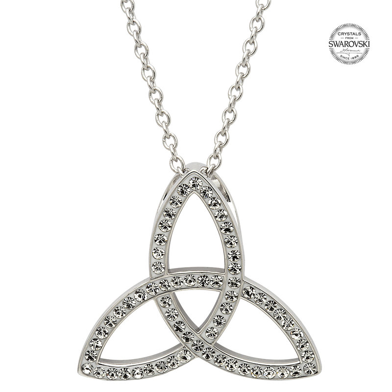 ShanOre Celtic Trinity Knot Necklace Embellished With Swarovski Crystals