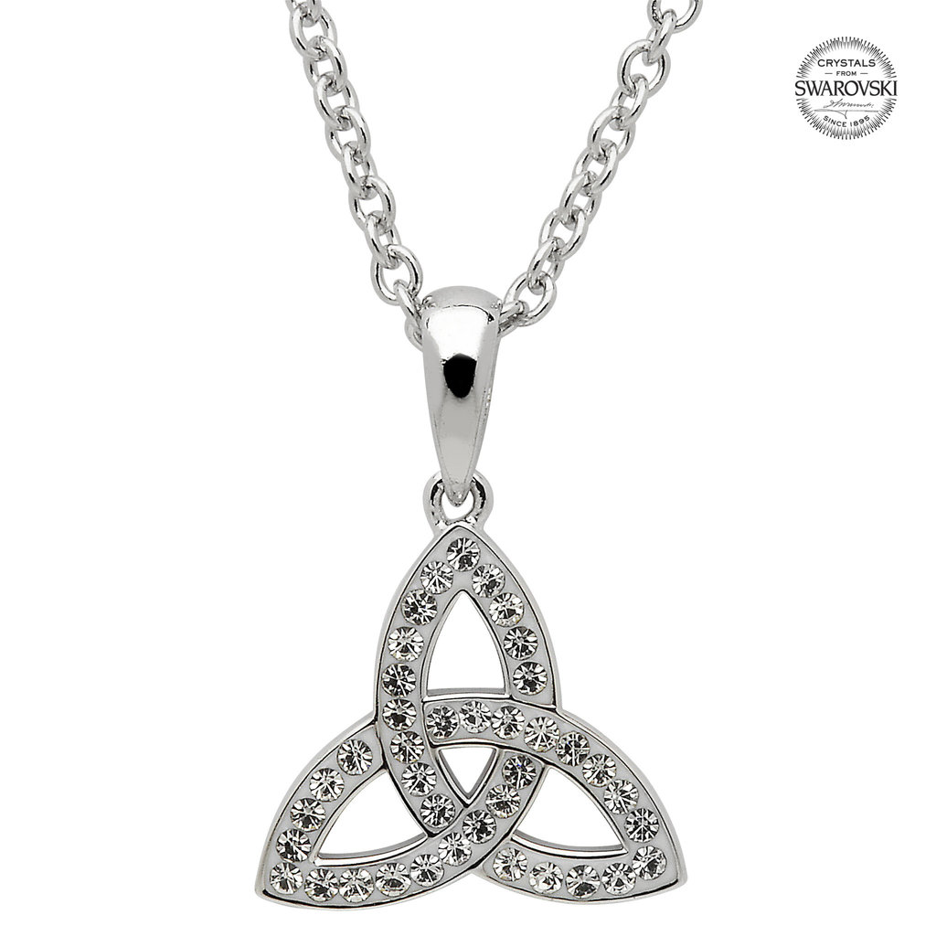 ShanOre ShanOre Celtic Trinity Knot Necklace Embellished With Swarovski Crystals – small
