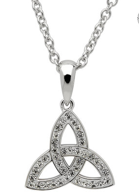 ShanOre ShanOre Sterling Silver White Swarovski Crystal Small Trinity