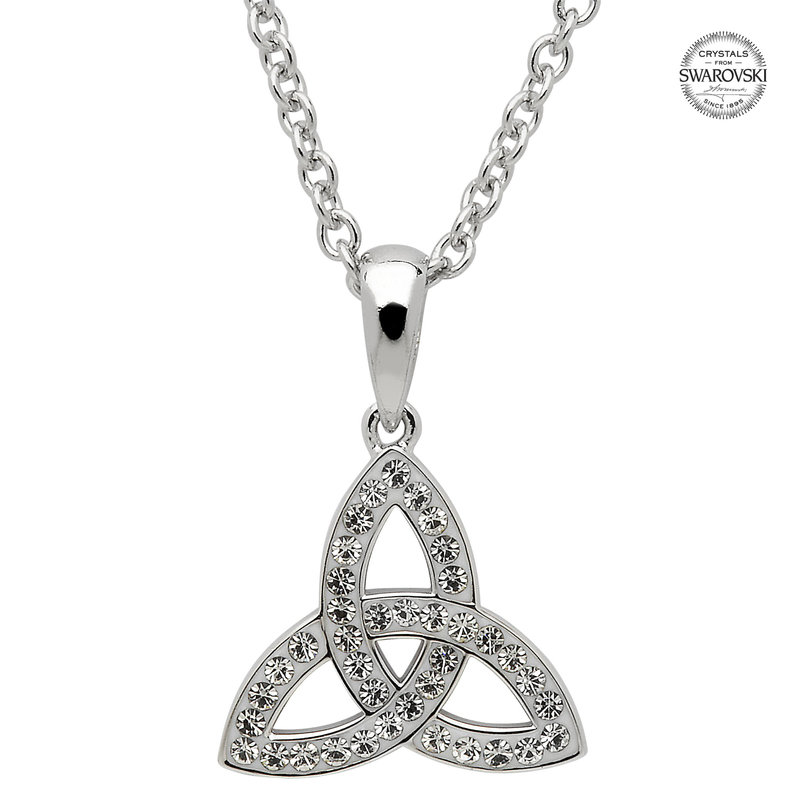 ShanOre Celtic Trinity Knot Necklace Embellished With Swarovski Crystals – small