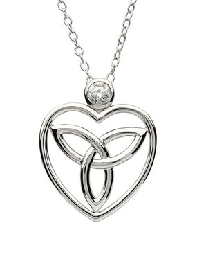 ShanOre ShanOre Sterling Silver Trinity Heart CZ Pendant