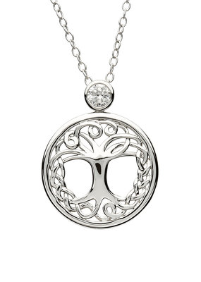 ShanOre ShanOre Sterling Silver Tree of Life CZ Pendant