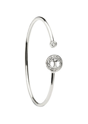 ShanOre ShanOre Sterling Silver Tree of Life CZ Bangle