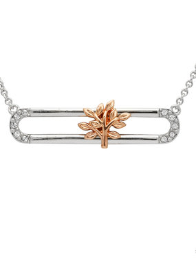 ShanOre ShanOre Sterling Silver Rose Gold Plated Tree of Life Slider Necklace