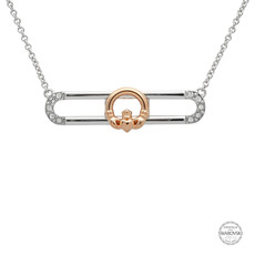 ShanOre ShanOre Sterling Silver Rose Gold Plated Claddagh Slider Necklace