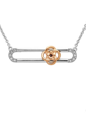 ShanOre ShanOre Sterling Silver Rose Gold Plated Celtic Knot Slider Necklace