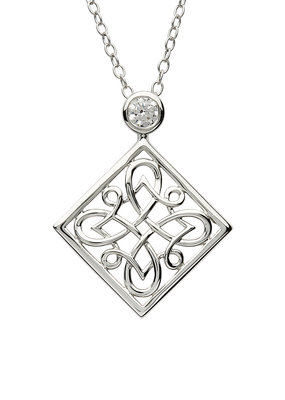 ShanOre ShanOre Sterling Silver Celtic CZ Pendant