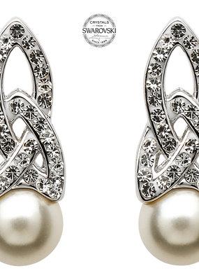 ShanOre ShanOre Celtic Pearl Earrings Adorned by Swarovski Crystals