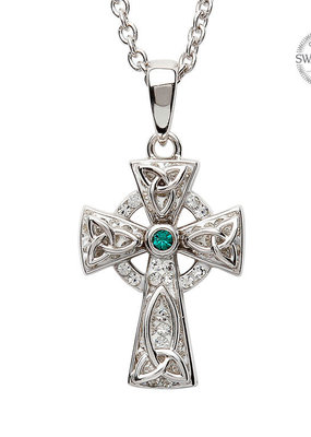 ShanOre ShanOre Celtic Trinity Knot Cross Adorned with Swarovski Crystal