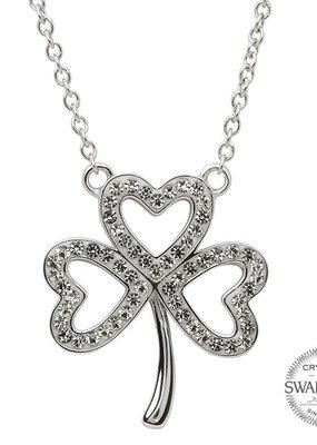 ShanOre ShanOre Open Shamrock Necklace Embellished with Swarovski Crystals