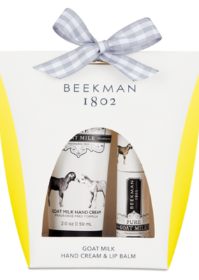 Beekman Pure Goats Milk 2oz Hand Cream & Lip Balm Set